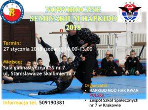 Noworoczne Seminarium Hapkido 2018